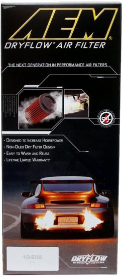 AEM Dryflow Air Filter AE-10796 Box Front