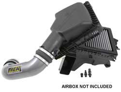 Utilizing the stock air box maintains the use of the factory cold air inlet near the front wheel