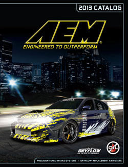 Front Cover of the 2013 AEM Catalog
