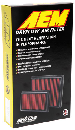 The reusable AEM 28-20945 DryFlow Air Filter is a drop-in replacement for that expensive OE Audi air