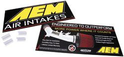 """20"""" x 9"""" Sign - AEM Logo & Air Intake Benefits"""