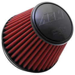 AEM Dryflow air filters are designed to provide high-airflow and increased performance without sacrificing engine protection