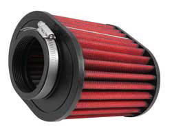 """The base of 21-2127DK AEM Dryflow clamp-on air filter has a 2.75"""" inner diameter CAI mounting flange"""