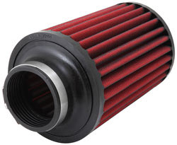 The AEM air filter can be used for up to 100,000 miles before cleaning, depending on conditions