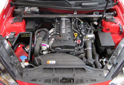 AEM short ram air intake  places the Dryflow air filter in the same location as the factory air filter box