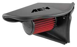 AEM Audi A4 & A5 air intake includes a reusable AEM Dryflow air filter, a semi-closed air filter heat shield, and an EPDM rubber molded air intake coupler to retain factory connections