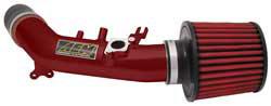 An AEM short ram air intake eliminates the restrictive factory intake tubes