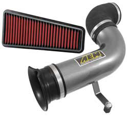The AEM Cold Air Intake System for 2014 Ford Fiesta 1.6-liter non-turbo models is available in either a charcoal gray powder coat or mirror-like finish to suit personal preferences