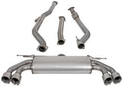 Turbo-Back Exhaust System for 2010, 2011 and 2012 Hyundai Genesis Coupe turbocharged 2.0L