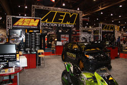 AEM booth during the 2009 SEMA Show