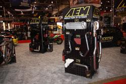 AEM Induction display at the 2009 SEMA Show
