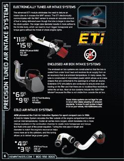 ETI section of the 2013 AEM Catalog