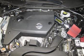 Engine Bay with AEM Nissan Altima Air Intake
