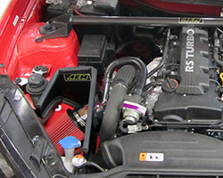 AEM intake 21-728P and 21-728C incorporates an air scoop adapter to retain the Hyundai Genesis cold air intake inlet as engineered from the factory