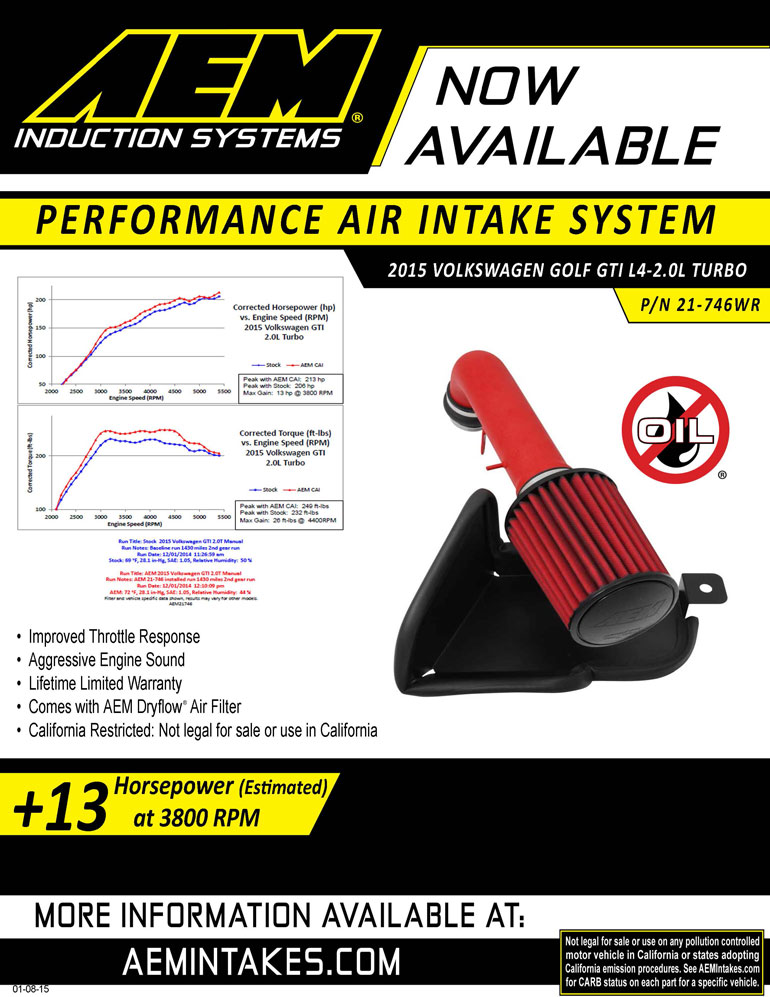AEM Sell sheet for 2013, 2014 and 2015 Hyundai Genesis Coupe 3.8L cold air intake