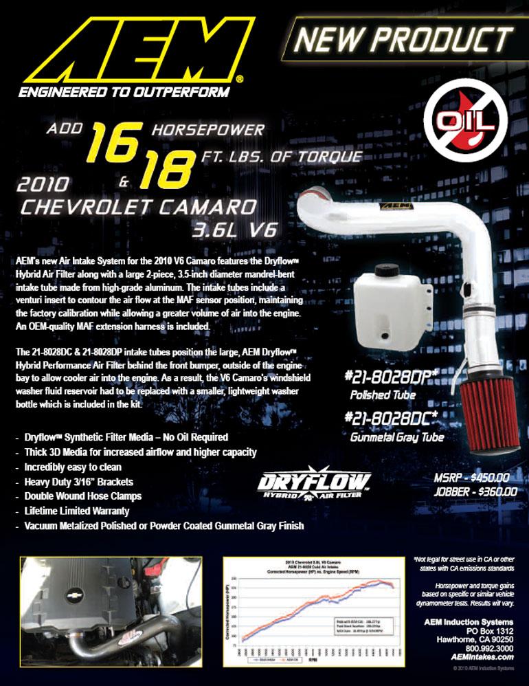 AEM Air Intake 21-8028 Features
