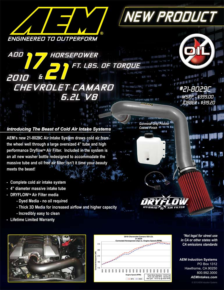 AEM Air Intake 21-8029C Features