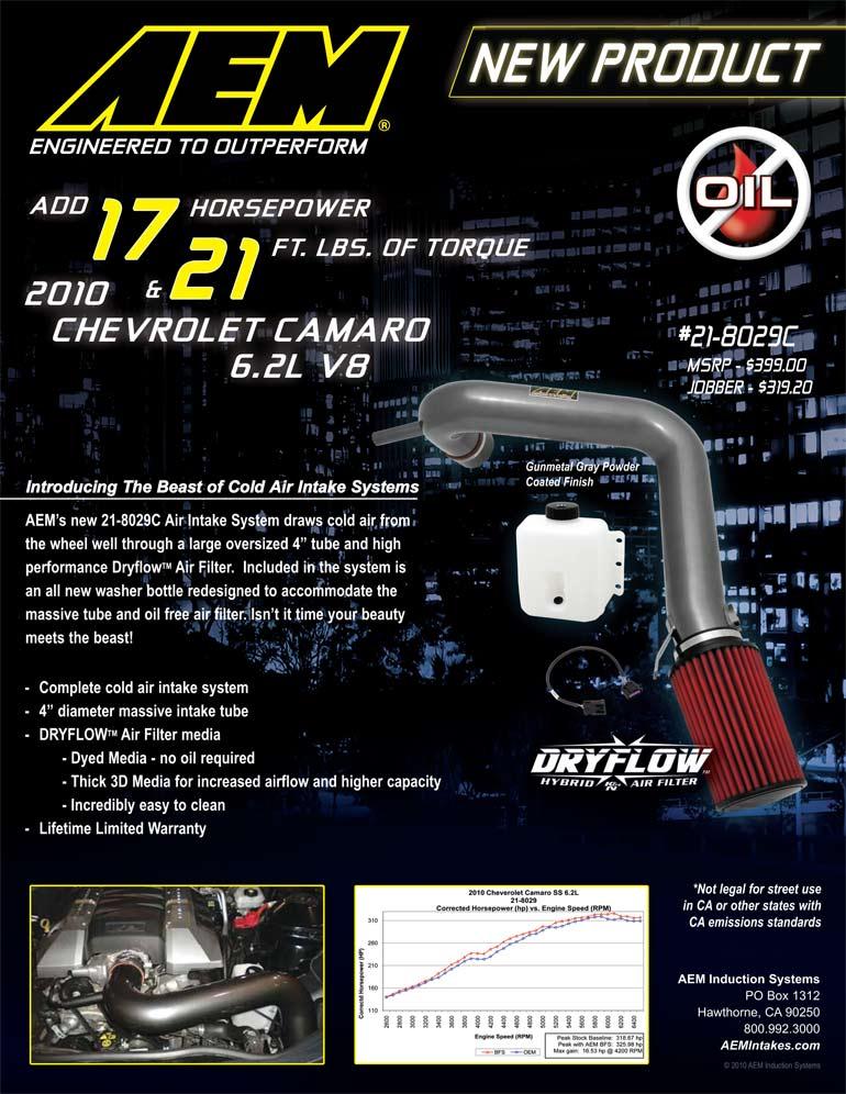 AEM Air Intake 21-8029C Features