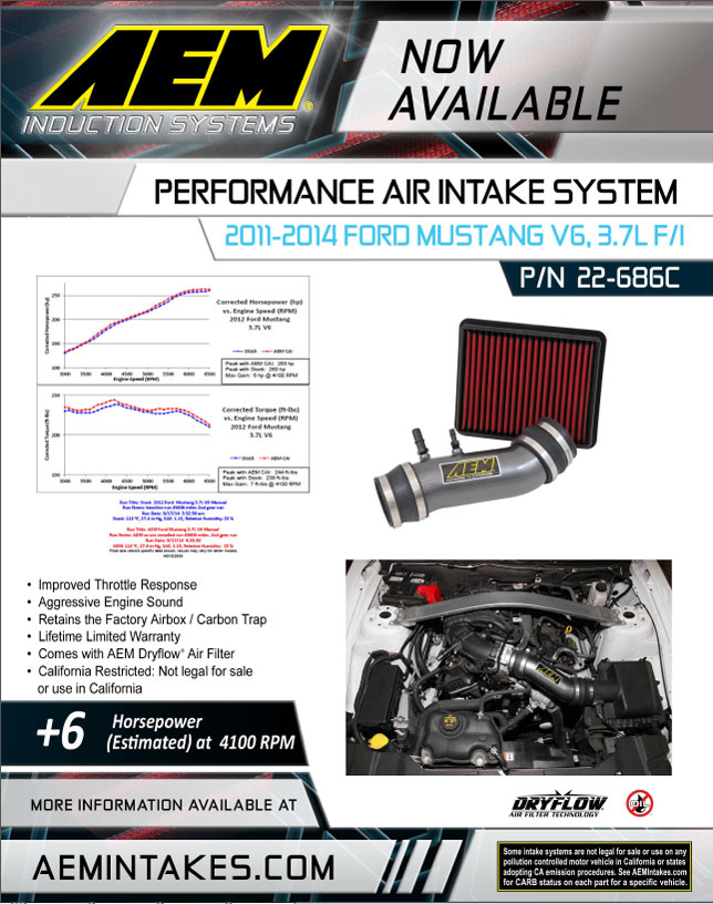 New 50 state legal aem air intake system 22-686C