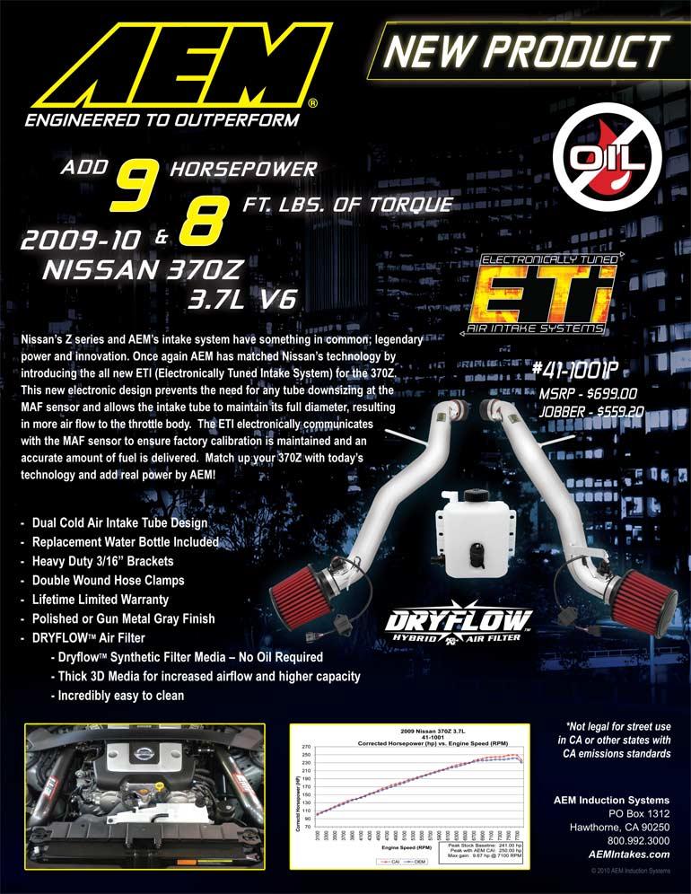AEM Air Intake 41-1001P Features