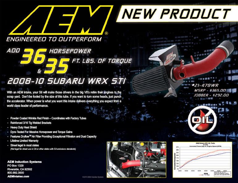 AEM Air Intake 21-478WR Features