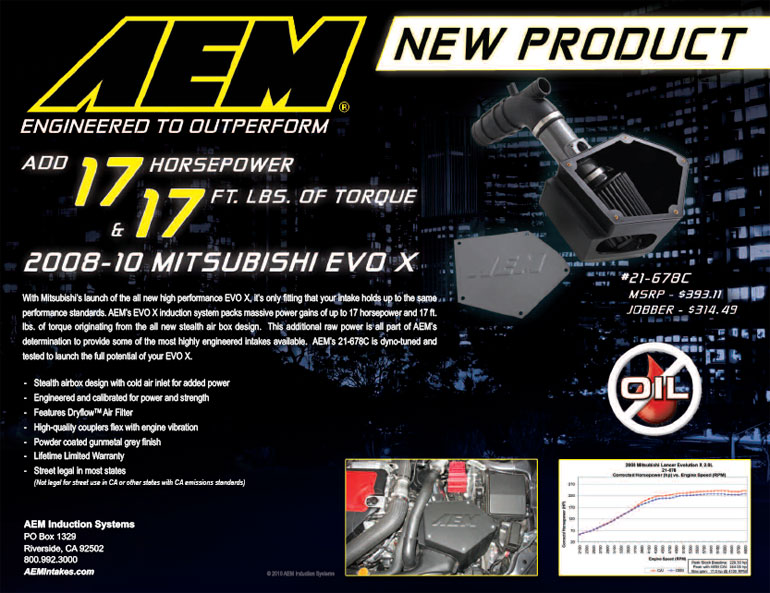 AEM Air Intake 21-678C Features