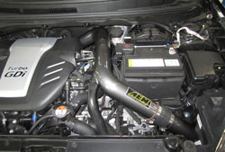 AEM cold air intake installed in engine bay