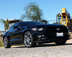 Ford is offering a turbocharged inline-four cylinder engine in the sixth generation 2015 Ford Mustang EcoBoost