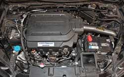 AEM 21-751C air intake system installed into a Honda Accord