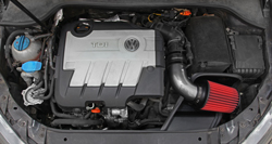 AEM 21-763C air intake system installed into VW Jetta
