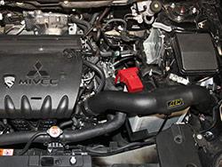 2015 Mitsubishi Lancer Engine Bay with AEM cold air intake 21-778C