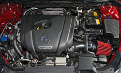 AEM 21-779C cold air intake installed into engine bay of Mazda 6 2.5L 4-cylinder