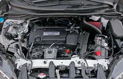 AEM 21-790C air intake system installed in engine bay of Honda 2015-2016 CR-V 2.4L iVTEC engine