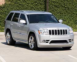 The Jeep Grand Cherokee WK was also offered with a high-output 6.1-liter V8 engine and suspension tuned by the SRT performance automobile group within the Chrysler Corporation