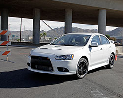 2014 Mitsubishi Lancer Ralliart 2.0-liter with AEM air filter