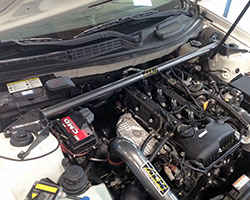 AEM Performance Strut Bar, 29-0006, is intended to enhance the driving experience, yet fit as if it came installed on the Hyundai Genesis Coupe from the factory
