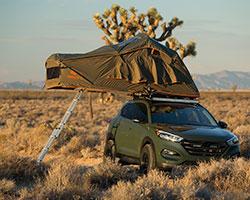 2016 Hyundai Tucson Adventuremobile with Treeline Tamarack roof-top tent