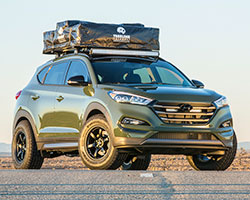 2016 Hyundai Tucson Adventuremobile with Aries Bull Bar, Steps and Rigid Industries LED lights