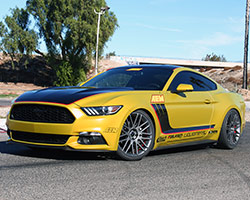 The Liquid Metal Wheels earned the AEM 2015 Mustang EcoBoost an honorable mention in Mustang & Fast Fords Mustang360 top 23 Mustang wheels at the 2015 SEMA Show