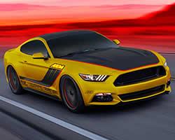 AEM built 2015 Ford Mustang EcoBoost at AEM botth 24213 at SEMA