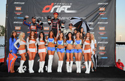 Aasbo (right side) took 3rd place over the weekend - his best finish in Formula DRIFT this season.