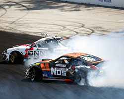 Chris Forsberg faced Formula Drift veteran Jeff Jones in the top 32 round which would decide who would advance to the top 16 with Forsberg coming out ahead of Jones