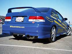 A 1999 and 2000 EK Honda Civic Si coupe was available in Electron Blue Pearl, Milano Red, or Flamenco Black Pearl and a color coordinated AEM Honda Civic Air Intake can be installed