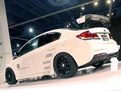 The FB Honda Civic Si was introduced for 2012 and is equipped with a larger 2.4-liter K24Z7 i-VTEC DOHC I4 making more horsepower and torque than FA models