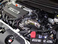 K24Z7 powered 2012, 2013, and 2014 FB Honda Civic Si models benefit from the installation of an AEM CAI Honda Civc Air Intake with an estimated 8 more horsepower