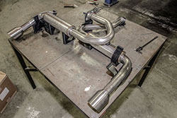 3D printed exhaust system