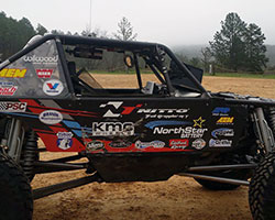 Derek West relies on AEM synthetic air filters and pre-filter wraps to keep the Jimmy's 4x4 running flawlessly