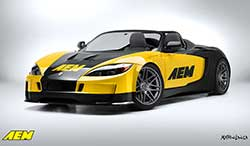 The AEM Intakes Factory Five 818R built by Six Star Cars will be featured in the AEM SEMA booth with hopes that Keith Pizio will be invited to the Optima Ultimate Street Car Invitational