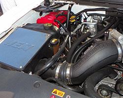 Garrett Harmon adapted AEM cold air intake 21-8030DC on his 2013 GMC Sierra