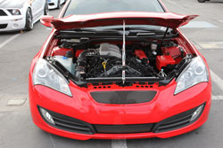 This 2011 Genisis Coupe sported an AEM air intake during the 2012 SEMA Show